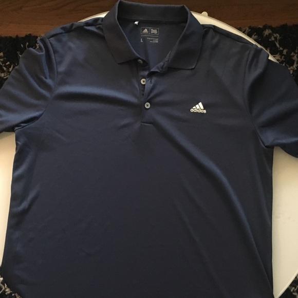 Adidas shirts hombre  Polo Golf Shirt large Deep AZUL poshmark